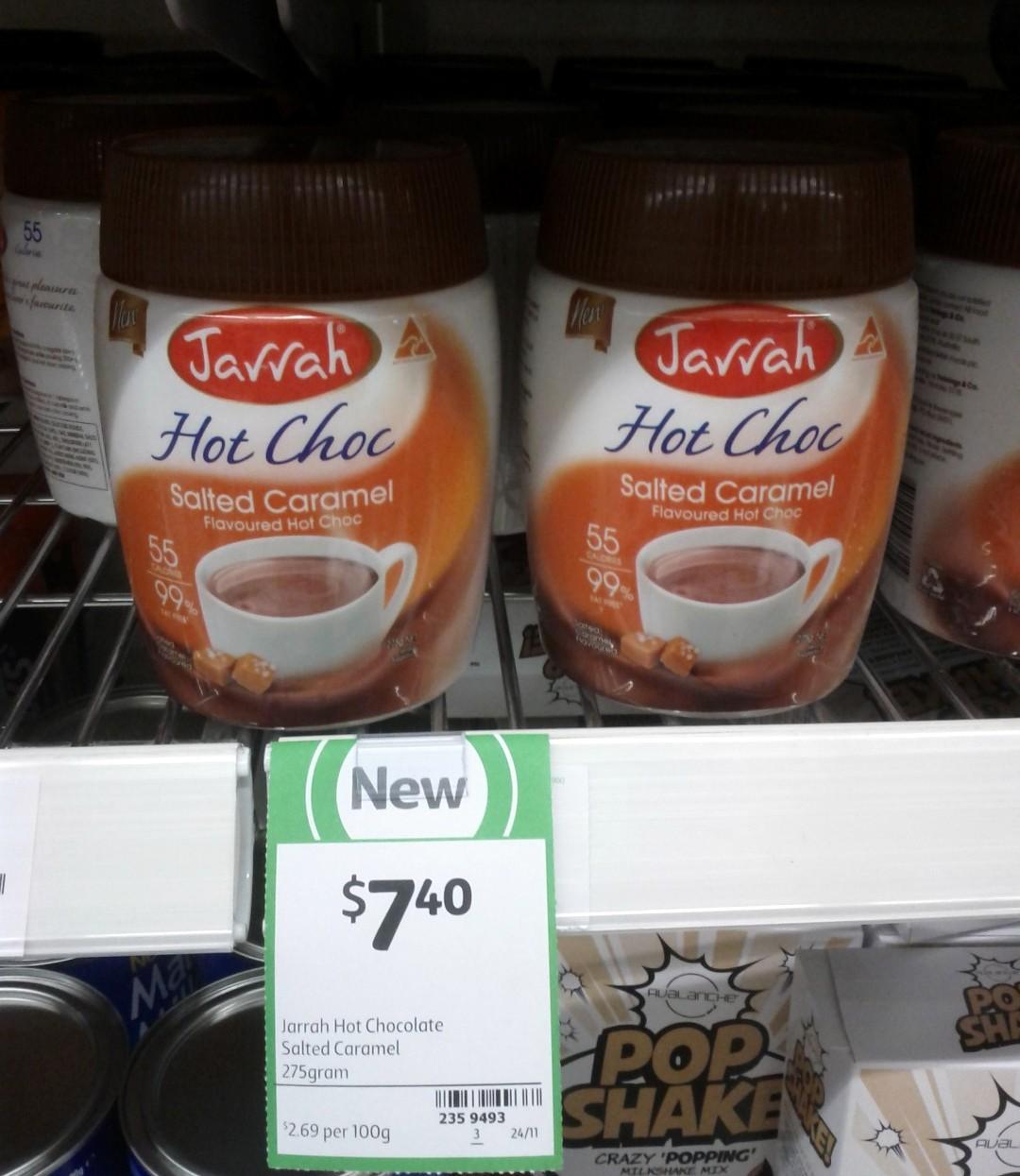 Jarrah Hot Choc 275g Salted Caramel