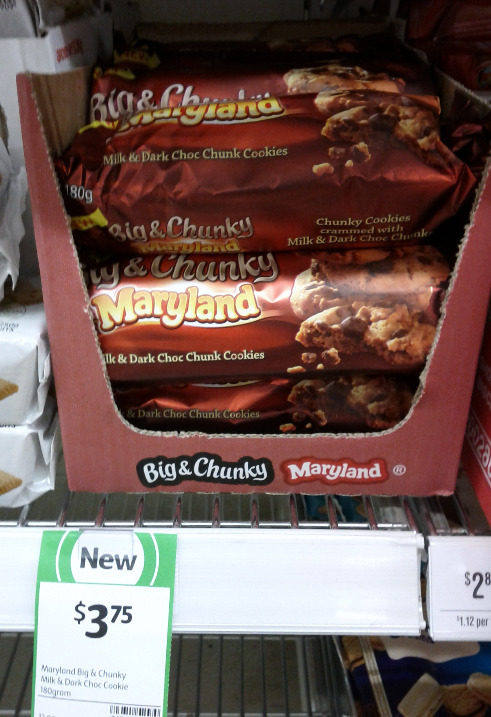 Maryland Big & Chunky 180g Milk & Dark Cookie