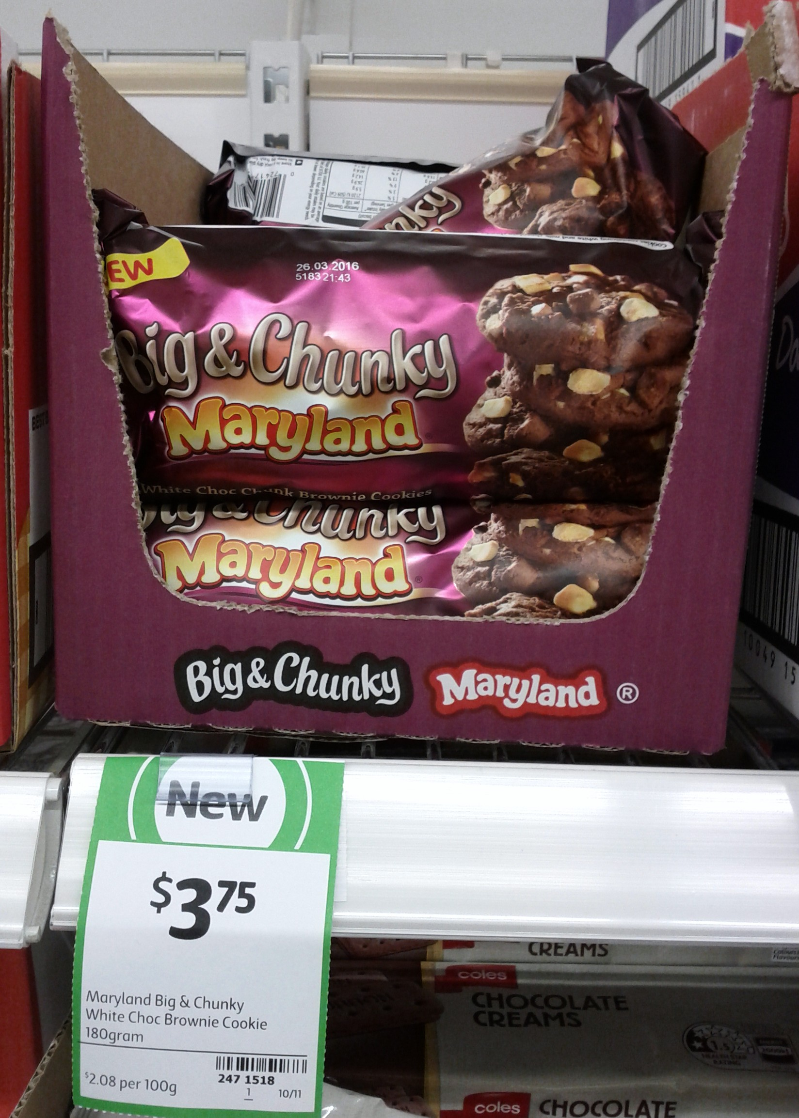 Maryland Big & Chunky 180g White Choc Browine Cookie