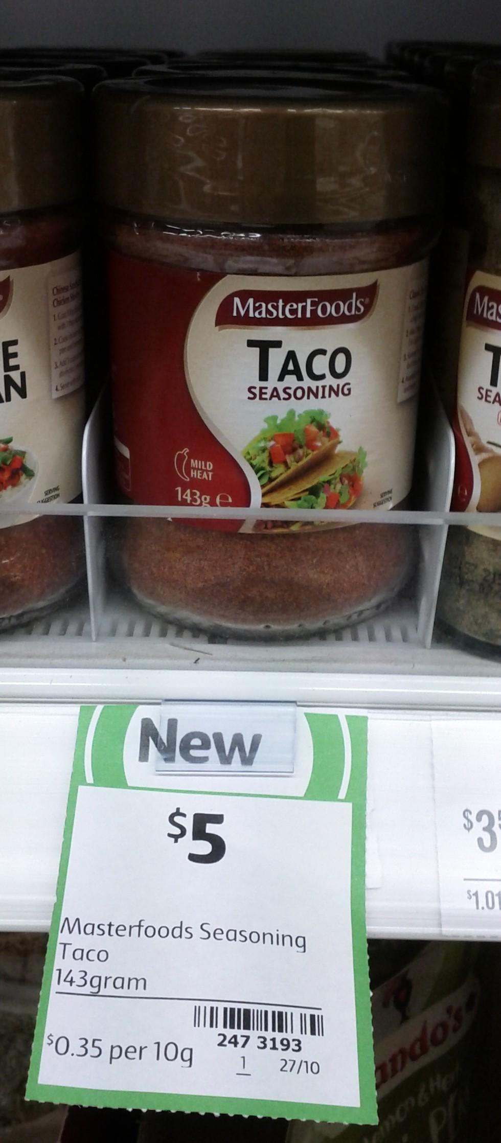 Masterfoods 143g Taco Seasoning