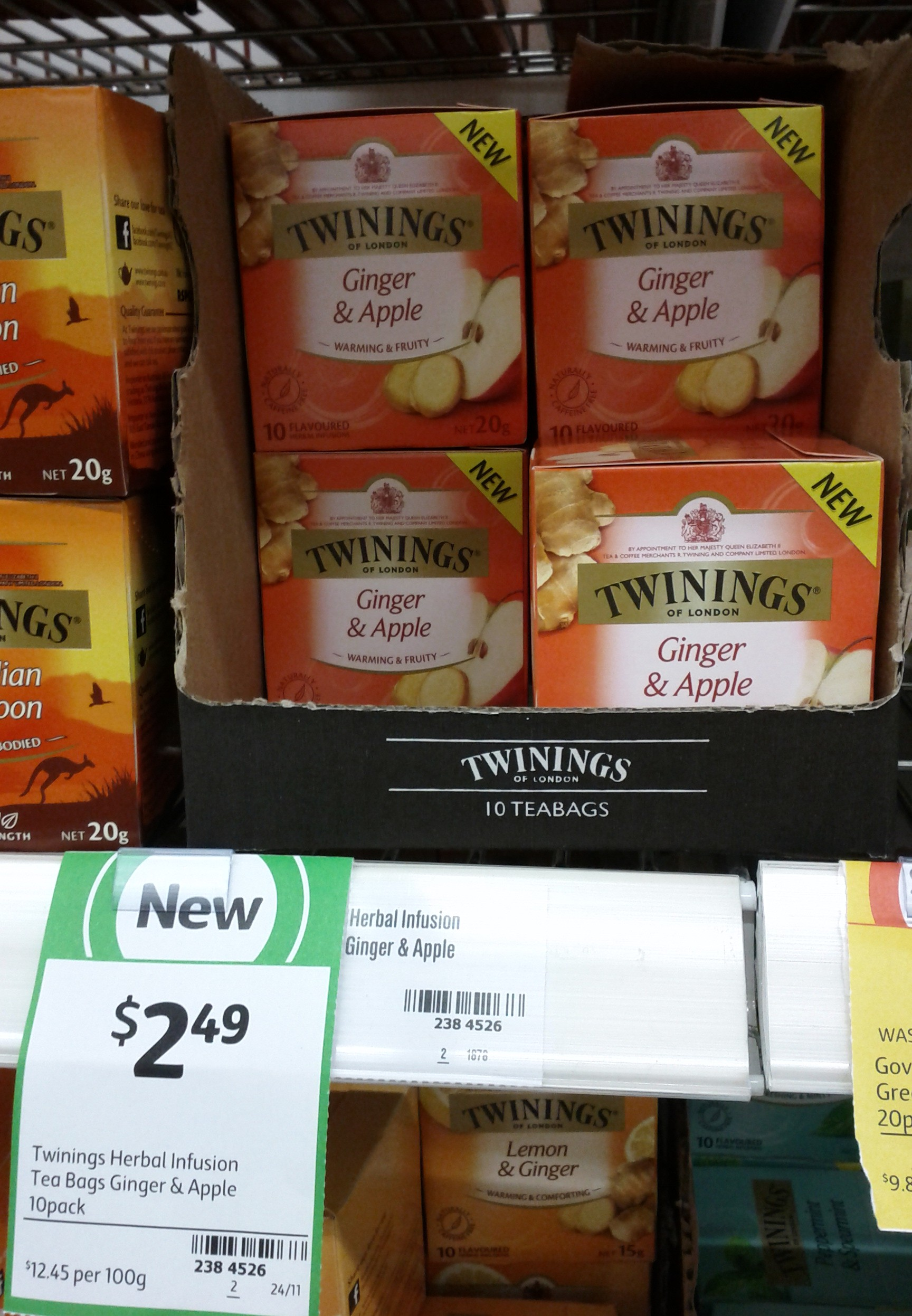 Twinings 20g Ginger & Apple Tea