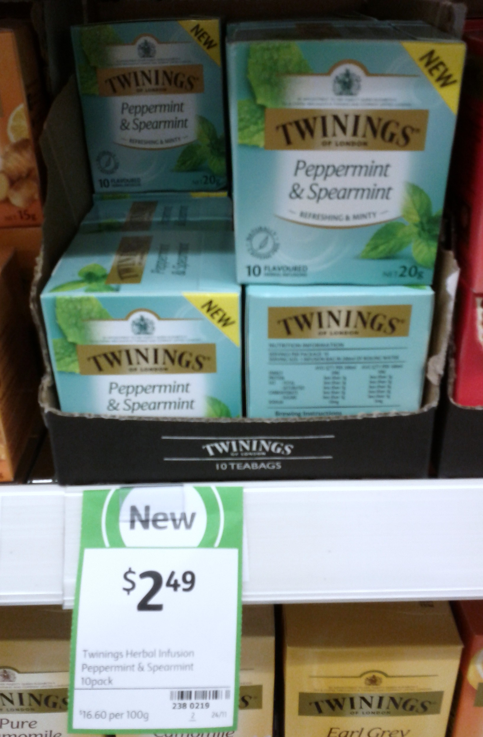 Twinings 20g Peppermint & Spearmint Tea