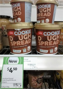 Coles 350g Cookie Dough Spread