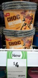 Coles 500mL Choc Honeycomb Ice Cream