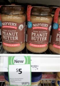 Mayver's 375g Peanut Butter Crunchy Dark Roast