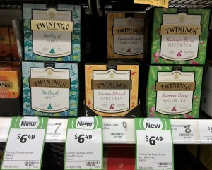 Twinings 30g Medley of Mint, 37g London Strand Earl Grey, 30g Summer Berry Green Tea