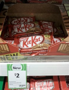 Nestle 45g Kit Kat Salted Caramel Whirl Bar