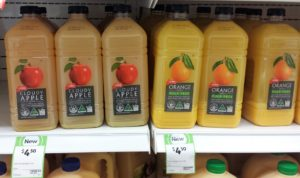 Coles 2L Cloudy Apple Juice, Orange Juice Pulp Free