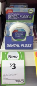 Coles Dental Floss 50m Mint
