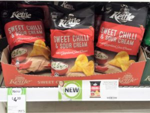 Kettle 185g Sweet Chilli & Sour Cream