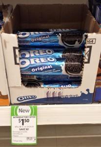 Oreo 137g Original Vanilla Creme Biscuits
