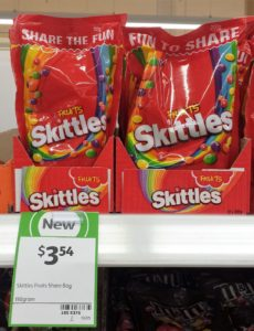 Skittles 110g Fruits Share Bag