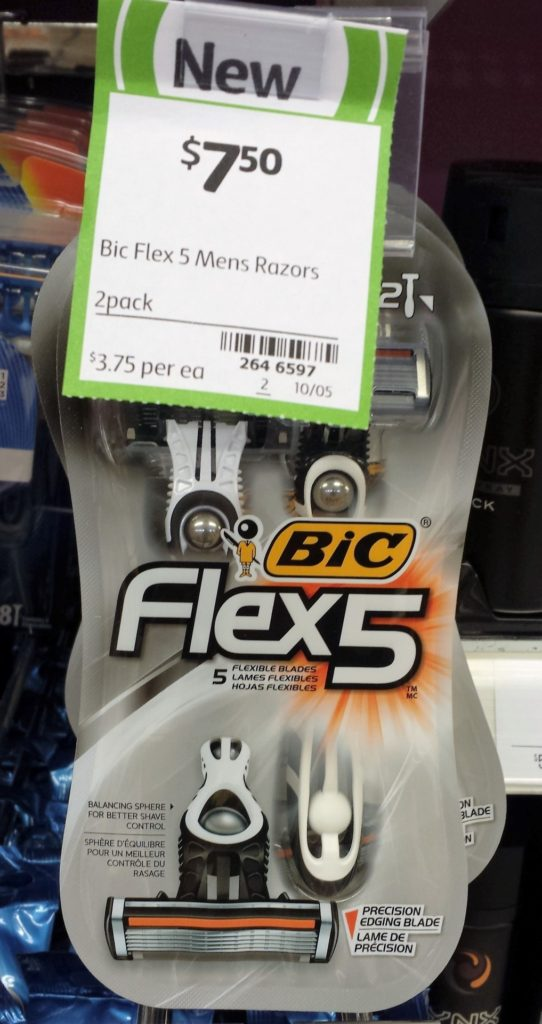 Bic 2pk Flex 5 Mens Razors