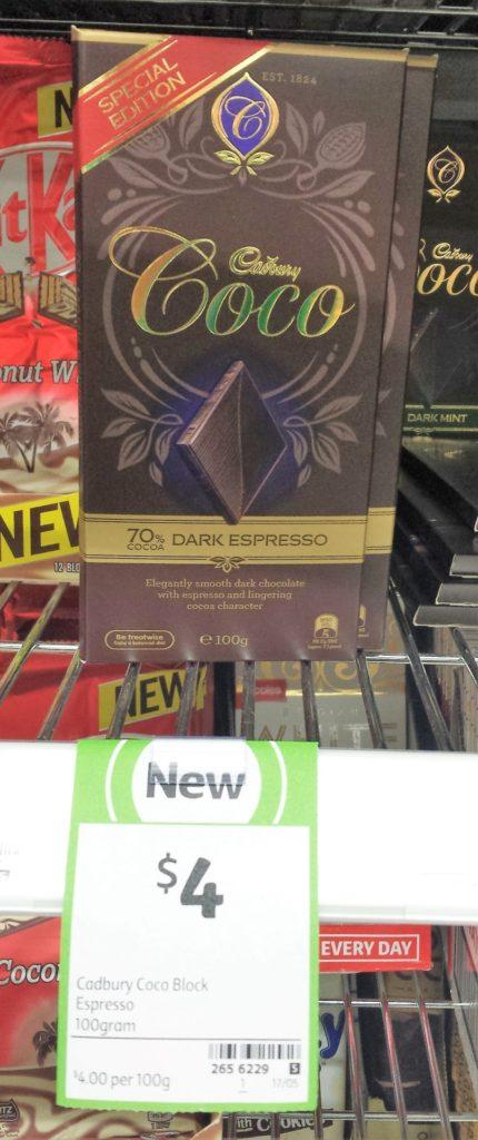 Cadbury Coco 100g 70% Dark Espresso