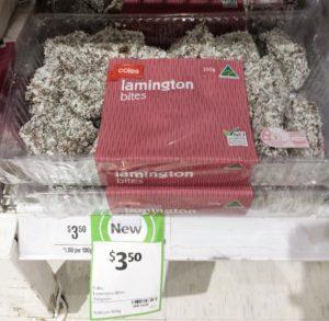 Coles Lamington 350g Bites