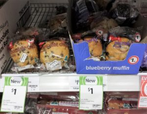 Coles Muffin 120g Chocolate Chip, Blueberry