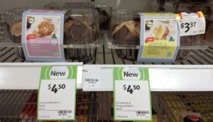 Coles Muffin 230g Breakfast Bran, Lemon & Poppyseed