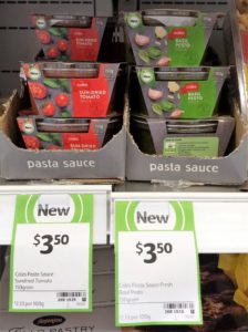 Coles Pasta Sauce 150g Sun-Dried Tomato, Basil Pesto