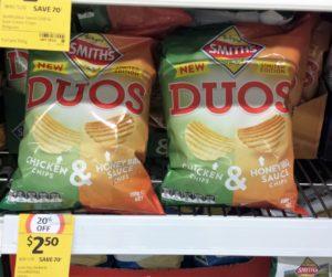 Smith's Duos 150g Chicken & Honey BBQ Sauce Chips