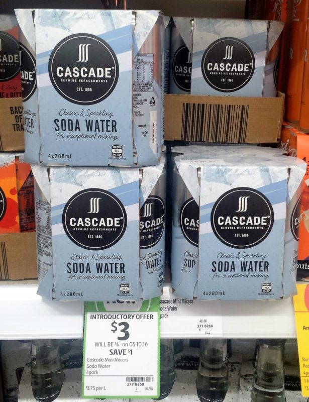 Cascade Mini Mixers 4 X 200mL Soda Water