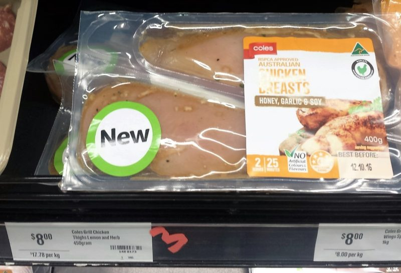 Coles 400g Gill Chicken Breasts Honey Garlic Soy
