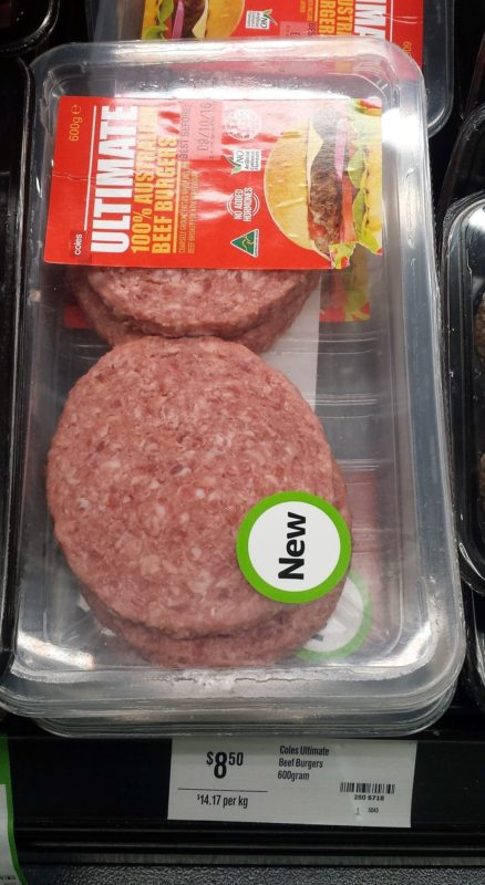Coles 600g Ultimate Beef Burgers