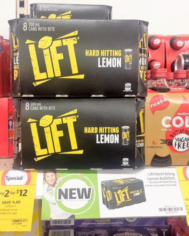 Lift 8 X 200mL Hard Hitting Lemon