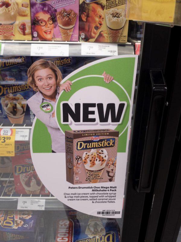 Peters Drumstick Choc Malted Mega Milkshake New Girl Jenny
