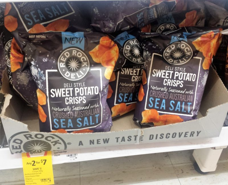 Red Rock Deli 135g Sweet Potato Sea Salt Crisps