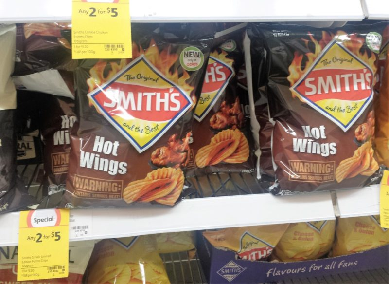Smiths 170g Hot Wings