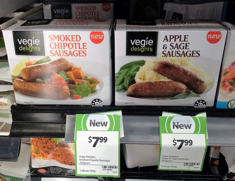 Vegie Delights 300g Smoked Chipotle Sausages Apple Sage Sausages