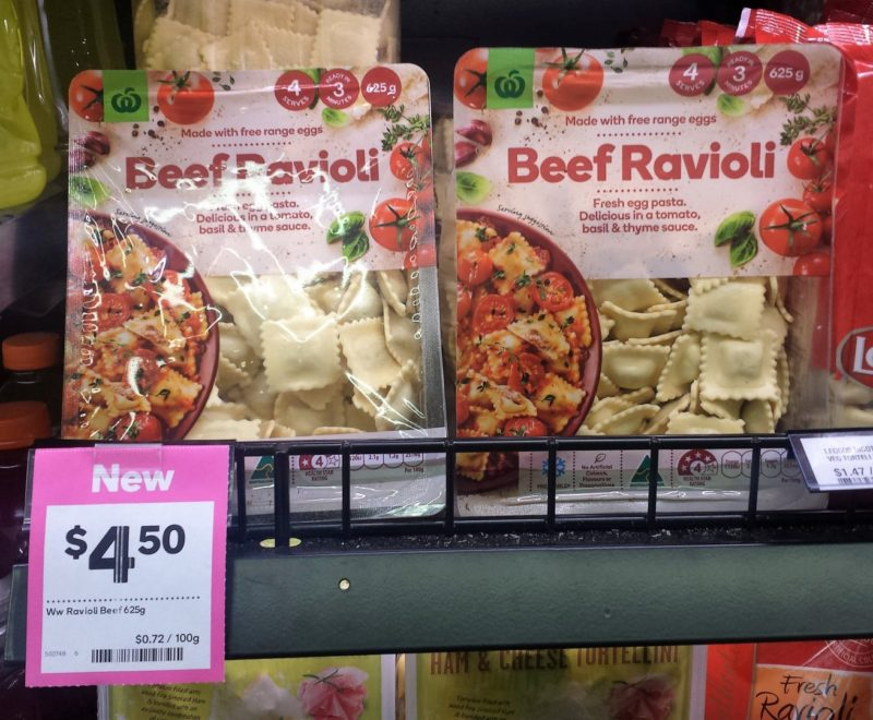 Woolworths 625g Beef Ravioli