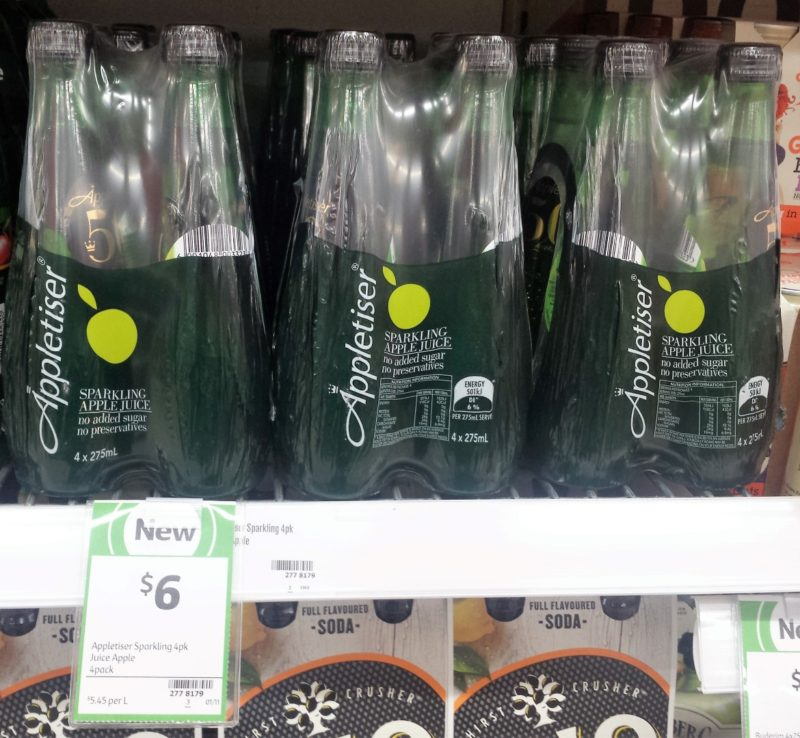 Appletiser 4 X 275ml Sparkling Apple Juice