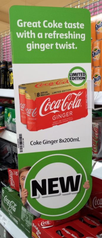 Coca Cola 8 X 200ml Ginger New Girl Jenny