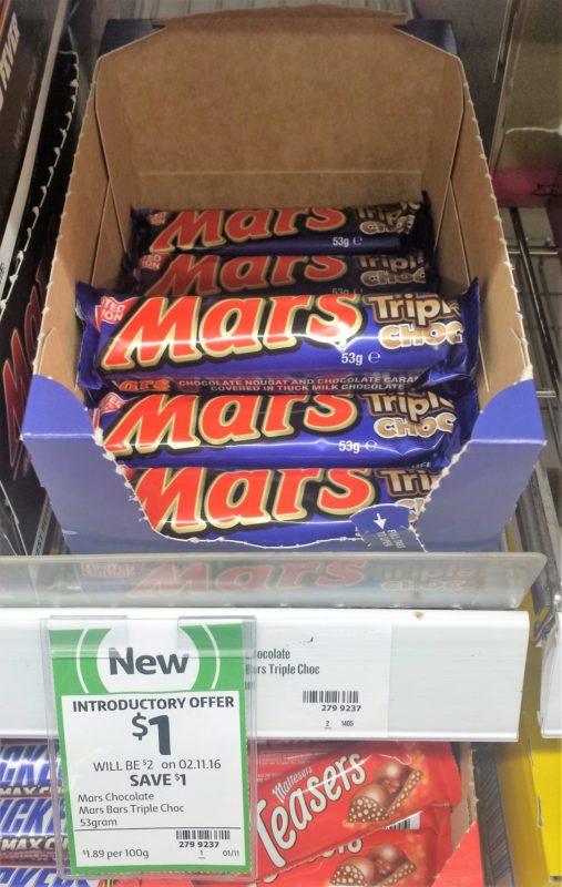 Mars 53g Triple Choc