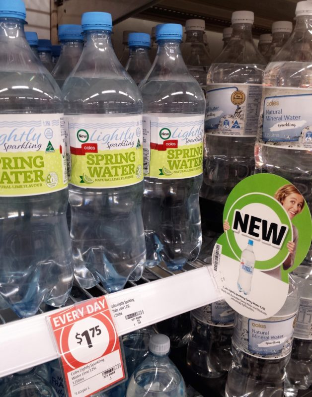 Coles 1.25L Lightly Sparkling Spring Water