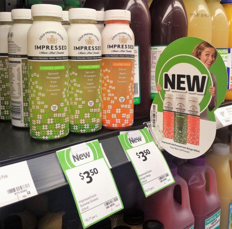 Impressed 325mL Cold Pressed Juices Summer Greens, Ginger Ninja
