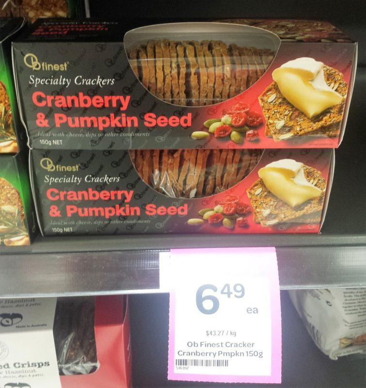 OB Finest 150g Cranberry & Pumpkin Seed