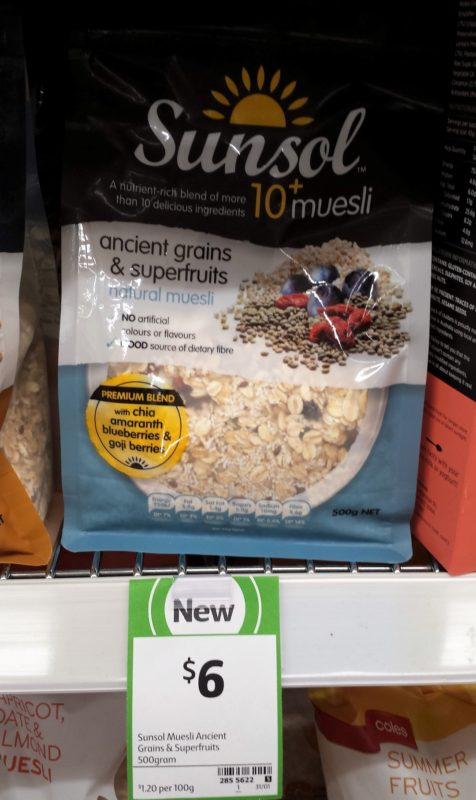 Sunsol 500g Muesli Ancient Grains & Superfruits