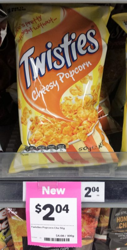 Twisties 50g Cheesy Popcorn