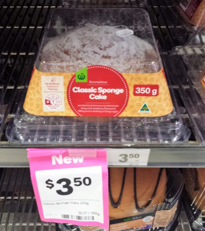 Woolworths 350g Classic Sponge Cake