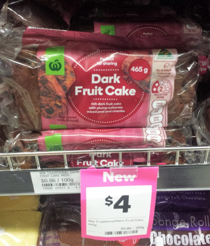 Woolworths 465g Dark Fruit Cake