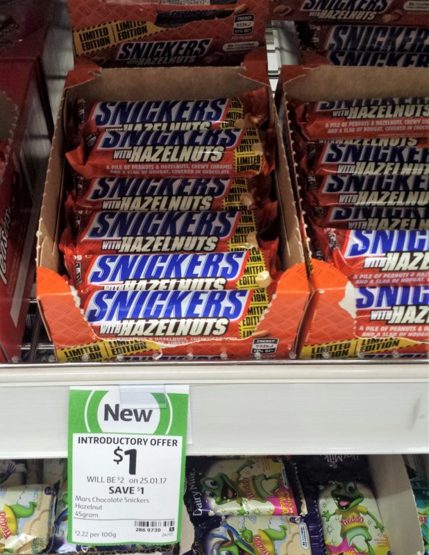Mars Snickers 45g Hazelnuts Limited Edition