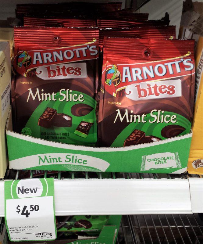 Arnott's Bites 170g Mint Slice