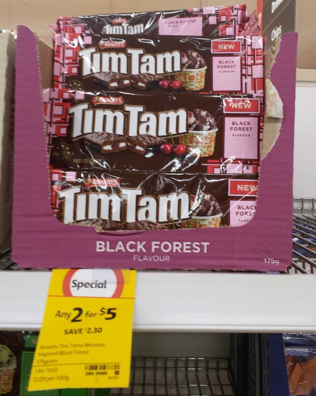Arnott's Tim Tam 160g Black Forest Messina Inspired