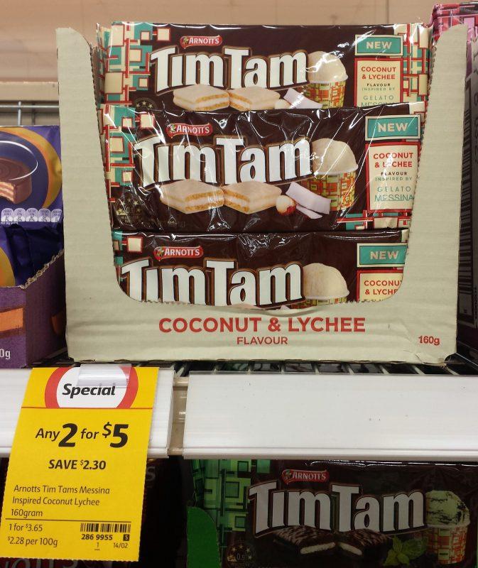 Arnott's Tim Tam 160g Coconut & Lychee Messina Inspired