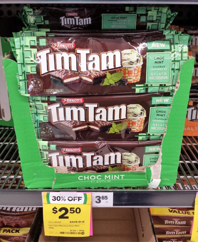 Arnott's Tim Tam 160g Gelato Messina Choc Mint