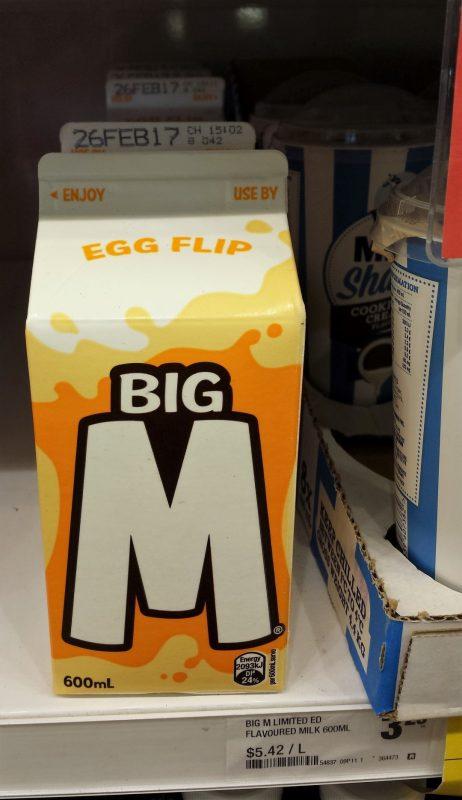 Big M 600mL Egg Flip Limited Edition