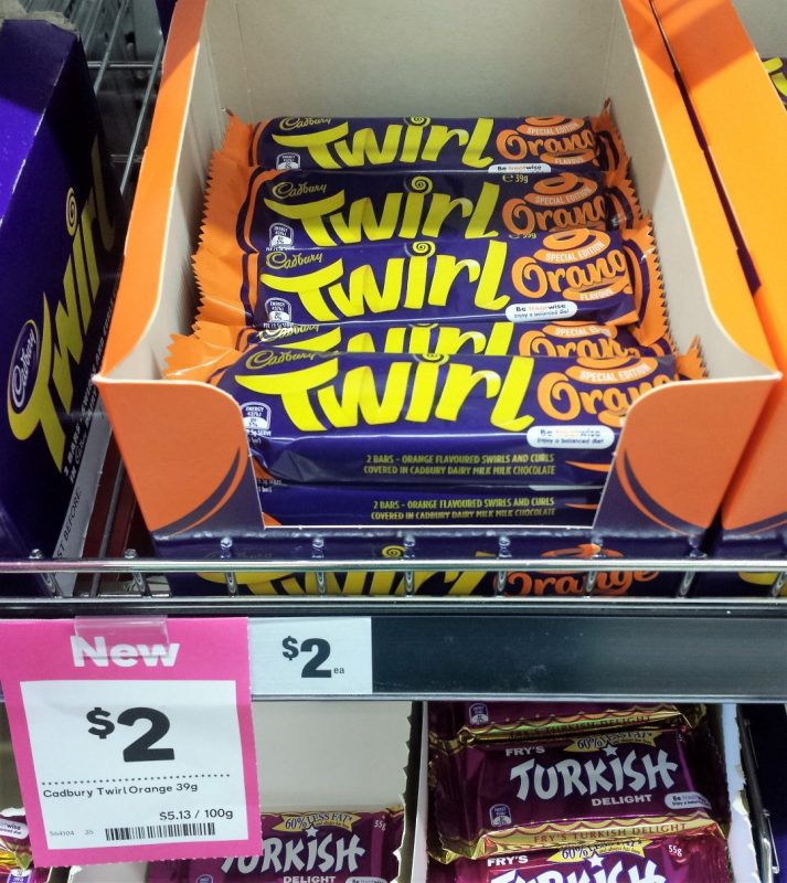 Cadbury Twirl 39g Special Edition Orange Flavour