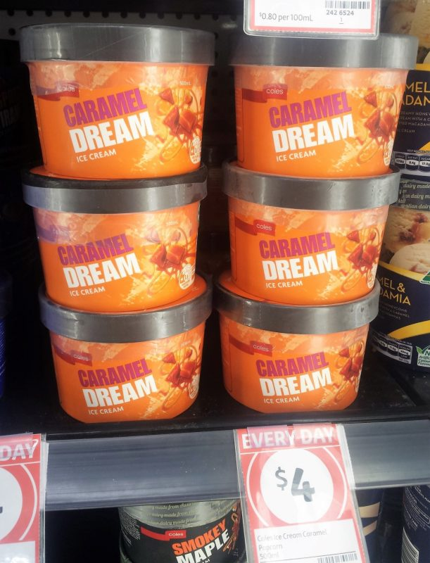 Coles 500mL Caramel Dream Ice Cream